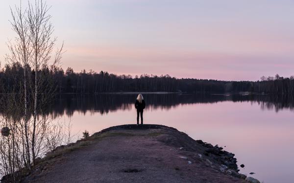 auringonlasku, nokia, näsijärvi kevät