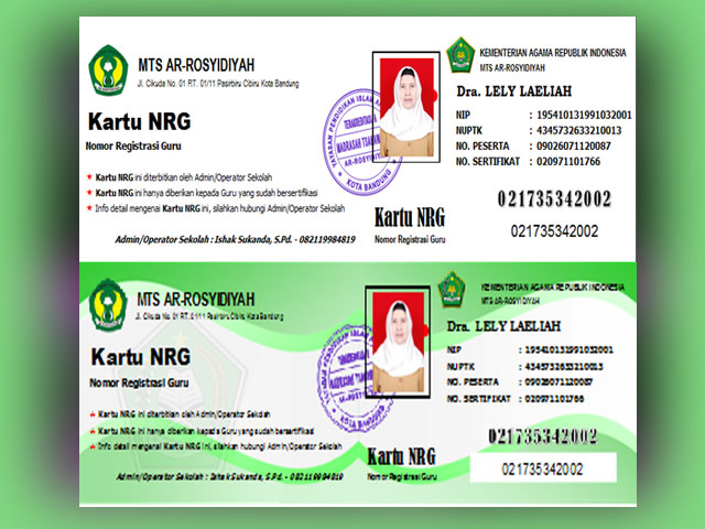 Download Aplikasi Cetak Kartu NRG Khusus Guru SD/MI,SMP.MTs,SMA/MA