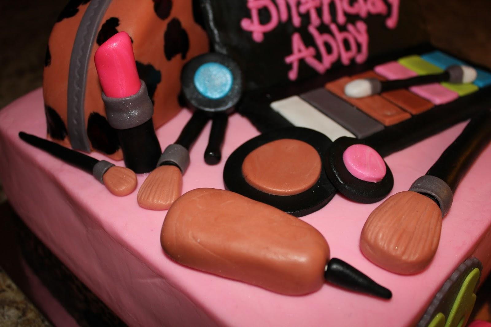 Make Up Sweet 16 Birthday Cake