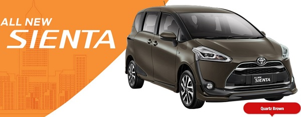 Warna Toyota All New Sienta Borwn
