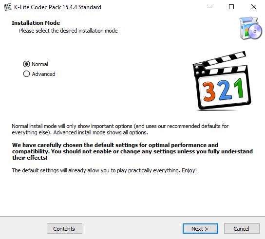K-Lite Codec Pack 15.4.4