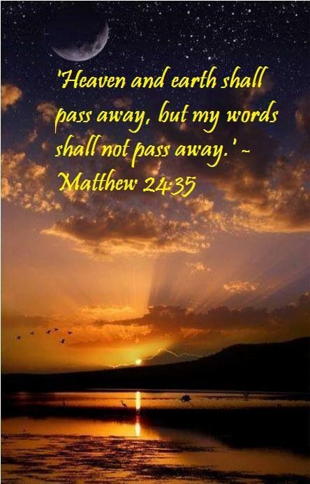 Jesus' words are a peg that will never give way.