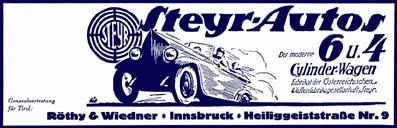 Steyr-Autos 1925