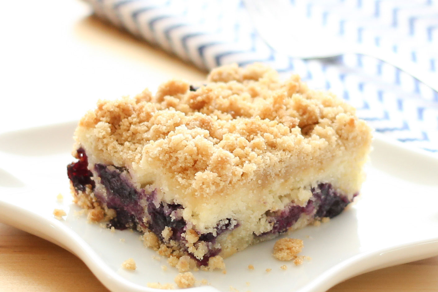 Gluten Free Blueberry Crumb Cake Recipe