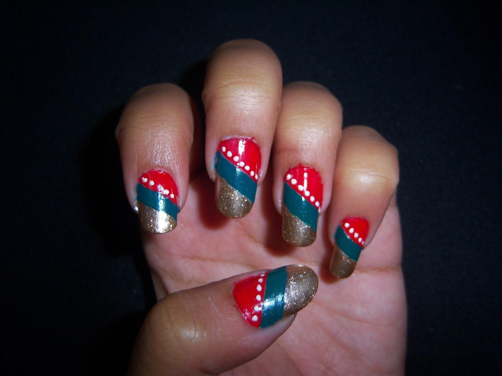 Saipriya Patel: Traditional Nail Art Design
