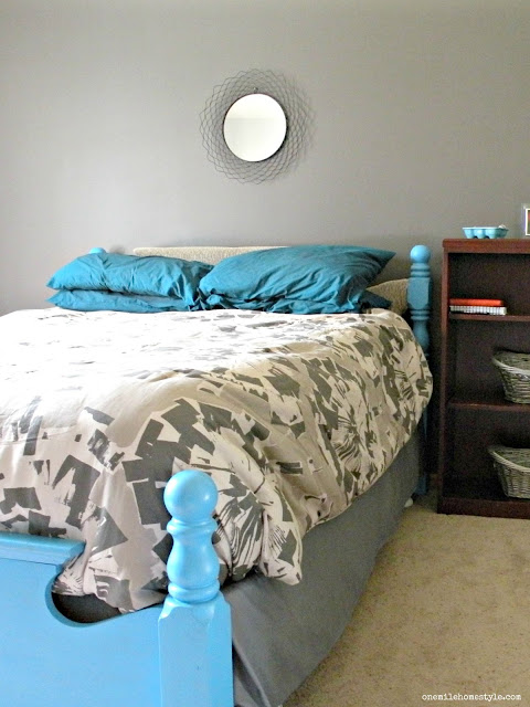 Grey and White Bold Neutral Master Bedroom Makeover - Before