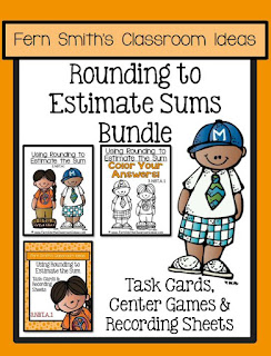 Fern Smith's Classroom Ideas Rounding to Estimate the Sum Task Cards, Center Games and Color By Code Printables at TeacherspayTeachers, TpT.
