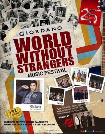 Giordano Philippines: World Without Strangers Music Festival 2014
