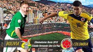 Bolivia vs Colombia, Eliminatorias Sudamericanas Mundial Rusia 2018