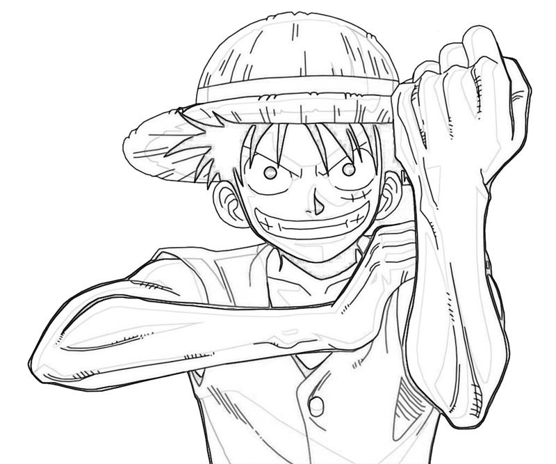 One Piece Monkey D Luffy Character Coloring Pages
