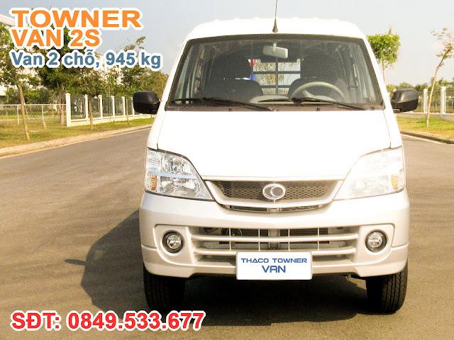 Xe Towner Van 2S sử dụng cabin có chiều rộng 1.535 mm, với màu trắng tiêu chuẩn