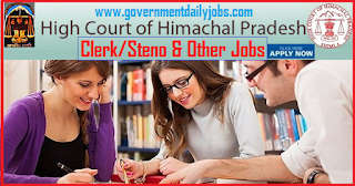 HP High Court Recruitment 2018 of 80 Clerks, Stenographer & Other Posts