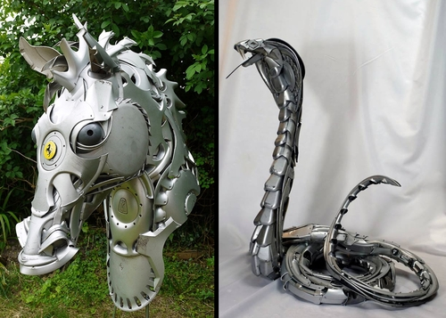 00-Ptolemy-Elrington-Hubcap-Creatures-and-other-Car-Parts-Animal-Sculptures-www-designstack-co
