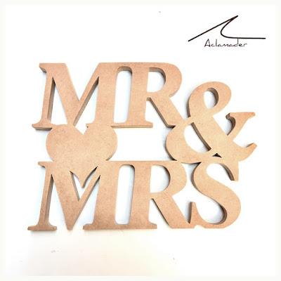 palabras de madera bodas