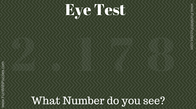 Visual Puzzle to test your eyes
