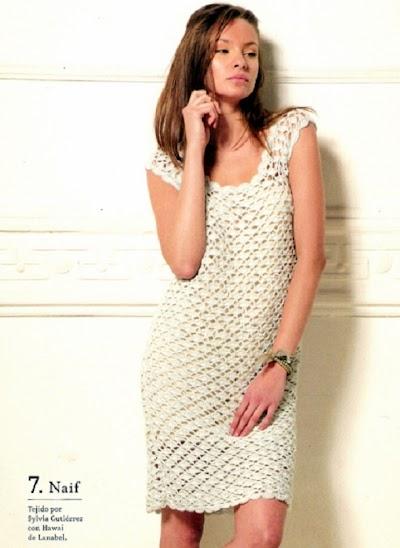 Patron Crochet Vestido Romantico