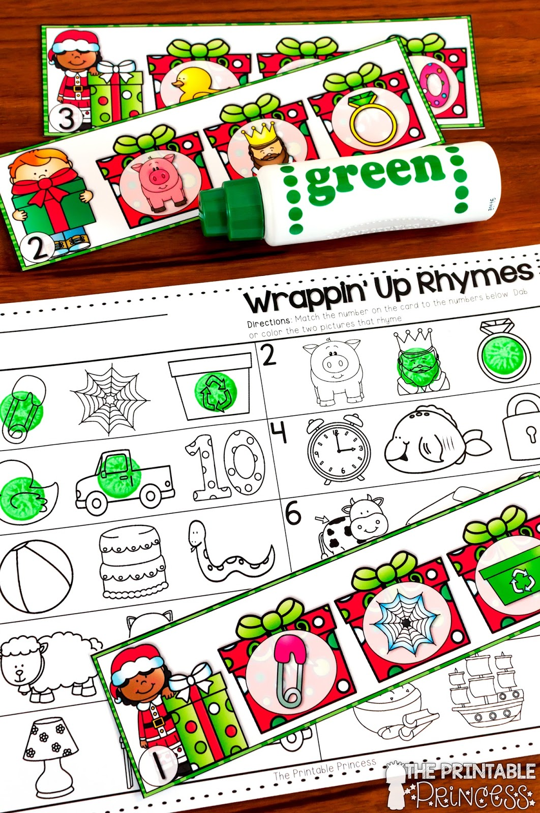 The Printable Princess Christmas Literacy And Math Activities For Kindergarten