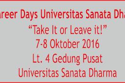 Jadwal Job Fair Universitas Sanata Dharma Yogyakarta