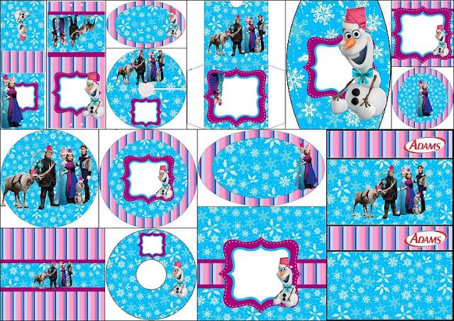 Frozen para Navidad: Etiquetas Candy Bar para Imprimir Gratis.