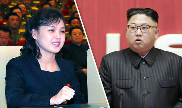 Image result for Kim Jong-Un with  Ri sol-Ju