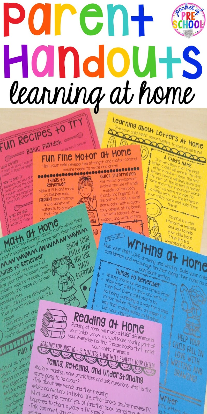 Building Skills & Learning at Home: Parent Handouts (aka FUN ...