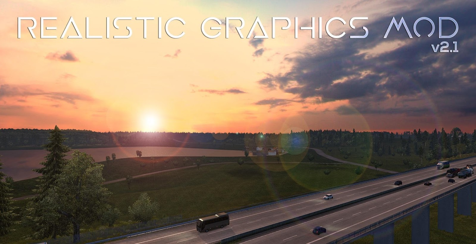 Realistic Graphics Mod v2 1 1 ETS2 - GamesMods17