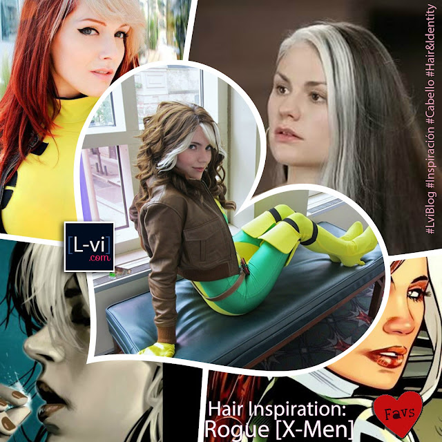 Hair Inspiration: Rogue [X-Men]  L-vi.com