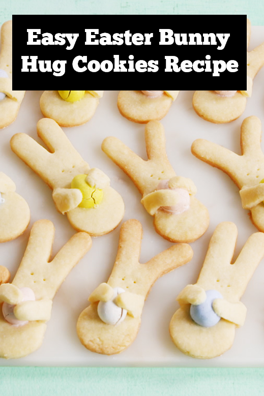 A cute little easter bunny hug cookies | Easy easter cookies recipe | easy cookies recipe | easter treats recipe | easter bunny cookies recipe | easter dessert recipe #easter #bunny #cookies #cookiesrecipe #easterbunny #eastertreats #easterrecipe #kidsfood #kidstreats