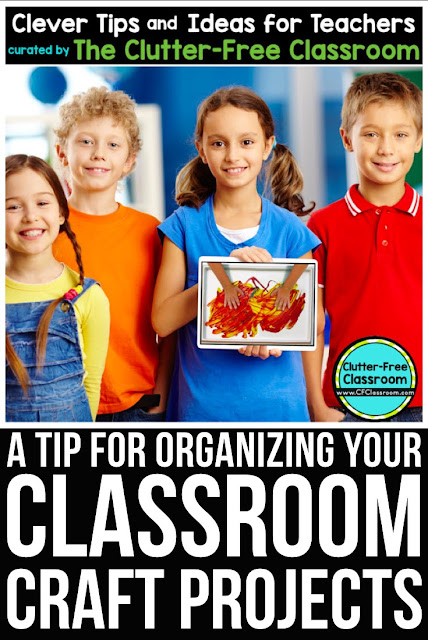 Are you wondering how to keep your classroom clean even when doing messy crafts? This teacher tip will keep your classroom looking neat and organized.