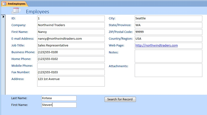 Search for Record Macro Action Access2007 ~ LEARN MS-ACCESS