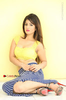 Cute Telugu Actress Shunaya Solanki High Definition Spicy Pos in Yellow Top and Skirt  0271.JPG
