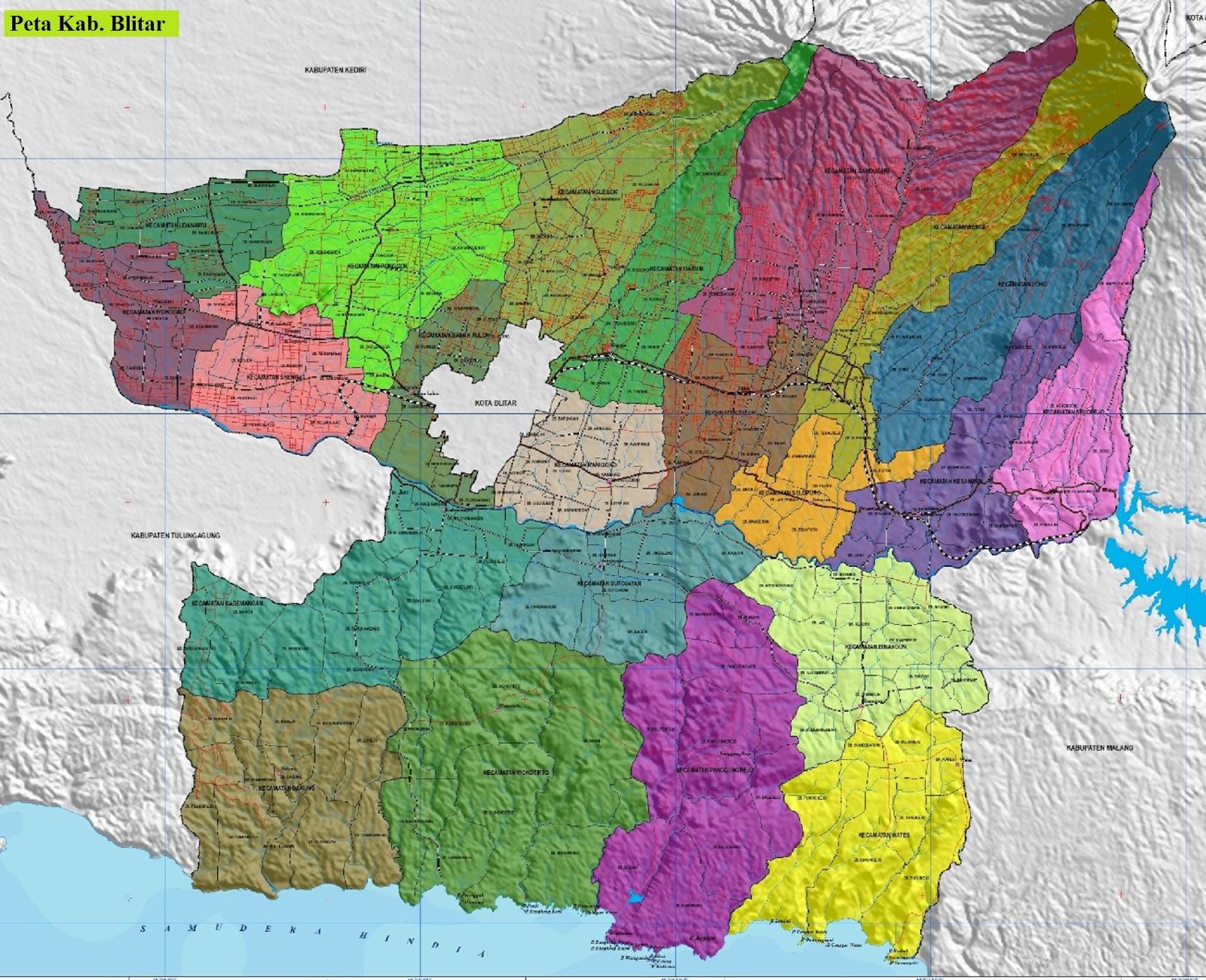 Peta Kabupaten Blitar