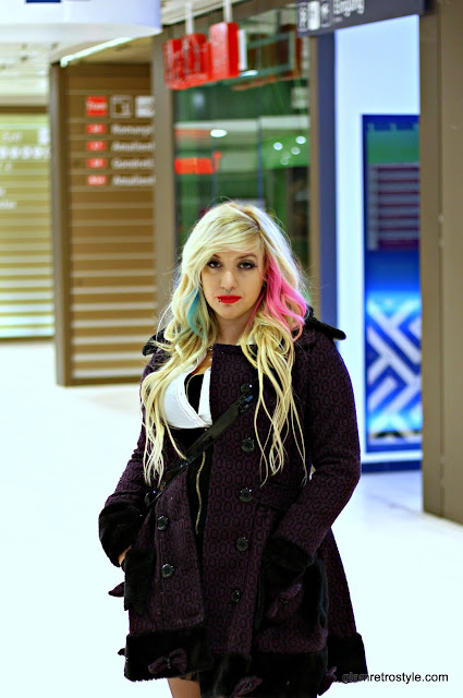 Germany girl blonde pink blue hair goth Munich outfit