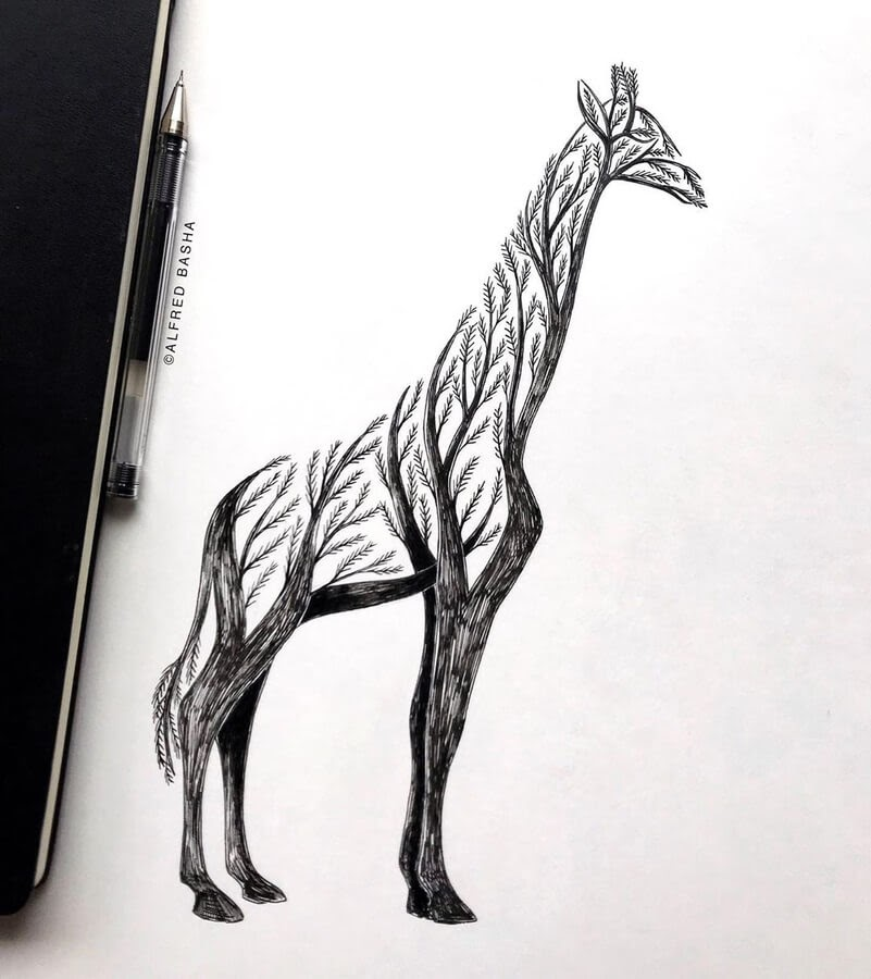 06-Giraffe-Tree-Alfred-Basha-www-designstack-co
