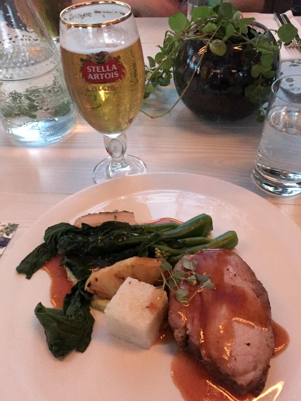 Stella Artois Le Savoir  Main meal