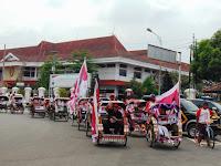 Imam Suroso : Kirab Becak Tampilkan Semangat Kesederhanaan Jokowi