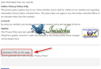 membuat dan memasang privacy policy untuk blogger