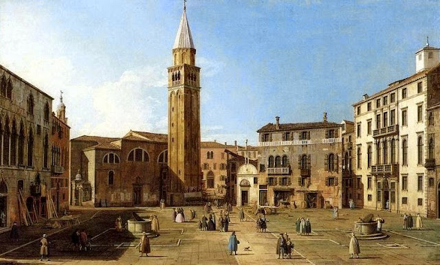 Canaletto's painting of the Campo Sant'Angelo, Venice