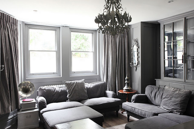 The living room in grey {Cool Chic Style Fashion}