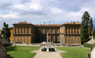 Palazzo Pitti as seen from the palace's gardens