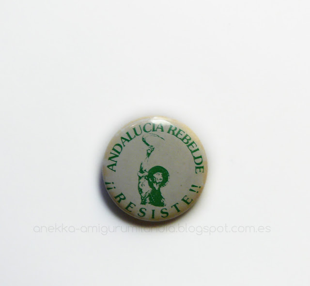 andalucia rebelde pin vintage