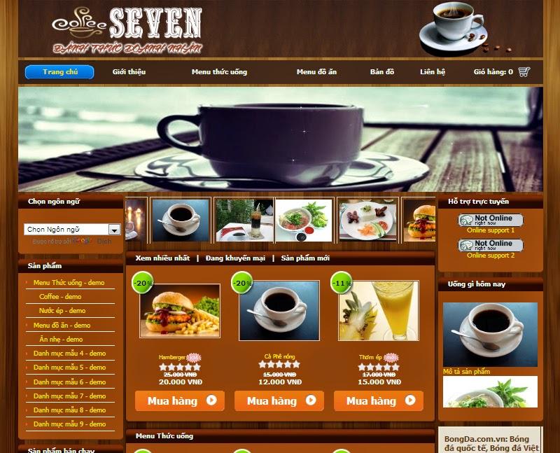 thiết kế website quán cafe chuyên nghiệp