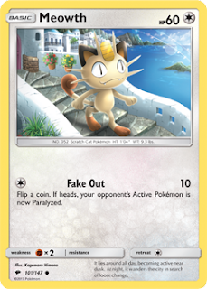 Meowth Burning Shadows Pokemon Card