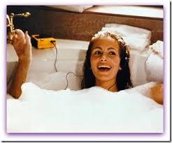 banho de imersão, banho de banheira, emergir ou imergir