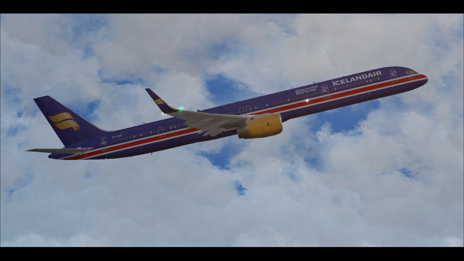 FSRepainter: Qualitywings Simulations 757-300W Icelandair TF-ISX 100