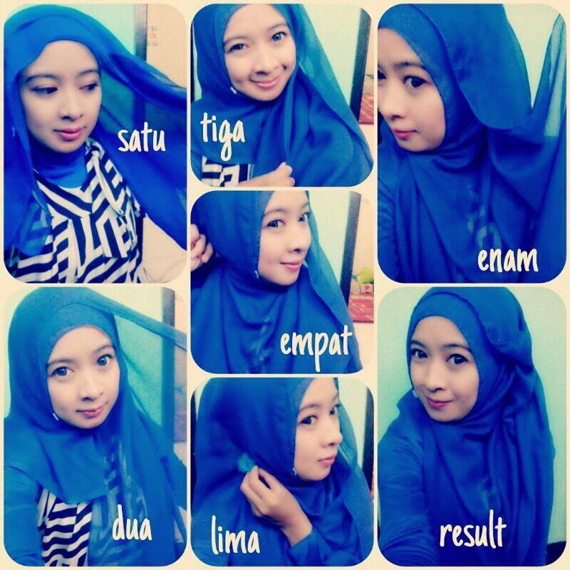Cara memakai jilbab cantik dan simple