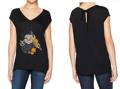 camiseta negra samira de Desigual