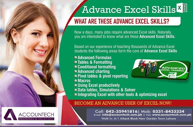 Advance Excel Training in Lahore Expert Course by Accountech