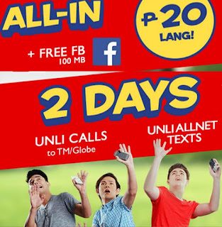 ALL-IN 20 Unlitext, unlicall free fb 2 days