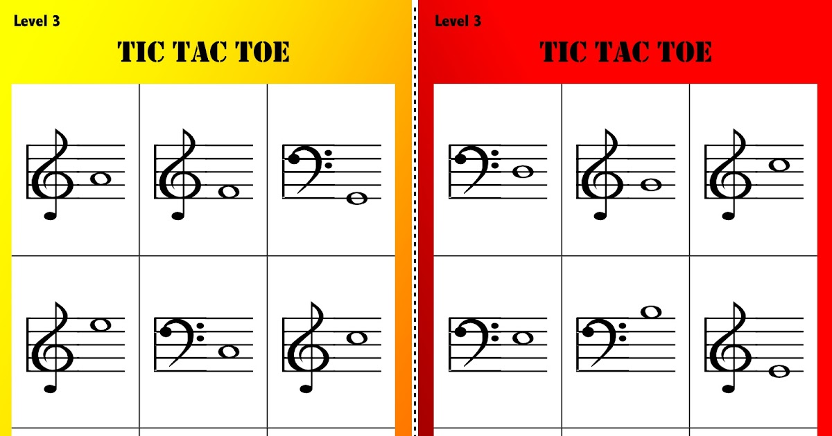 Sing a New Song: Tic Tac Toe Levels 1-3